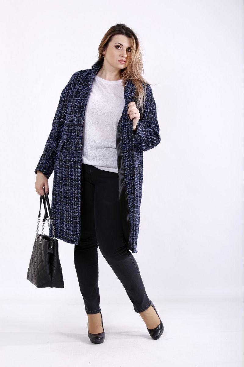 Пальто практичное и удобное синий 00-133668 - Victorya-Shop.com
