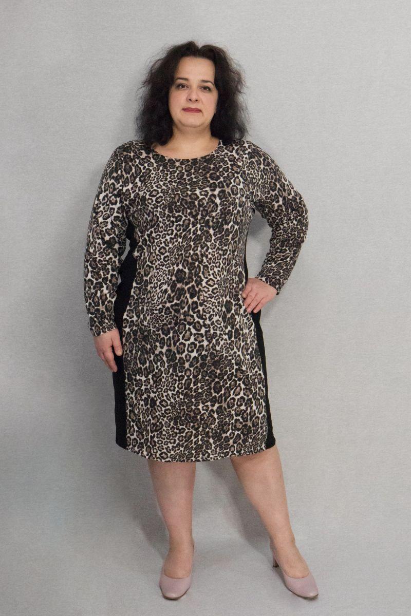 Платье анимал принт большого размера ЛЕО 00-13323 - Victorya-Shop.com