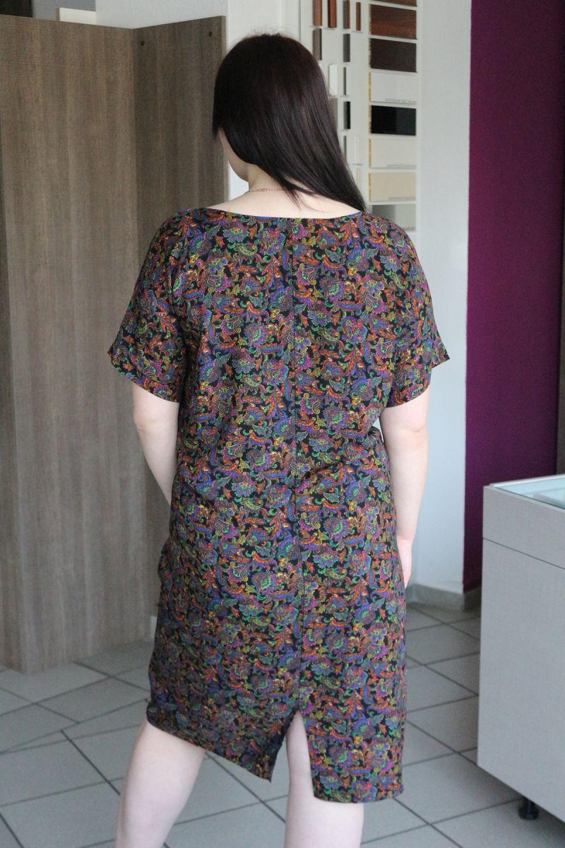 Платье большого ра-змера из натуральной ткани Лини 00-890 - Victorya-Shop.com
