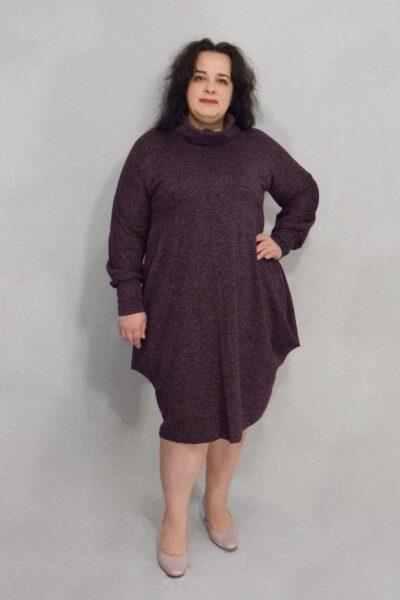 Платье большого размера ангора-софт черника доступно в цветах 00-13311 - Victorya-Shop.com