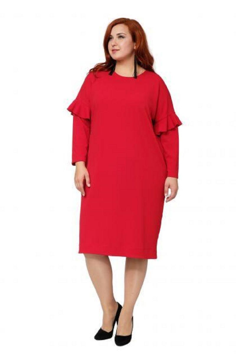 Платье большого размера цвет красный Доступно в цвете 00-13307 - Victorya-Shop.com