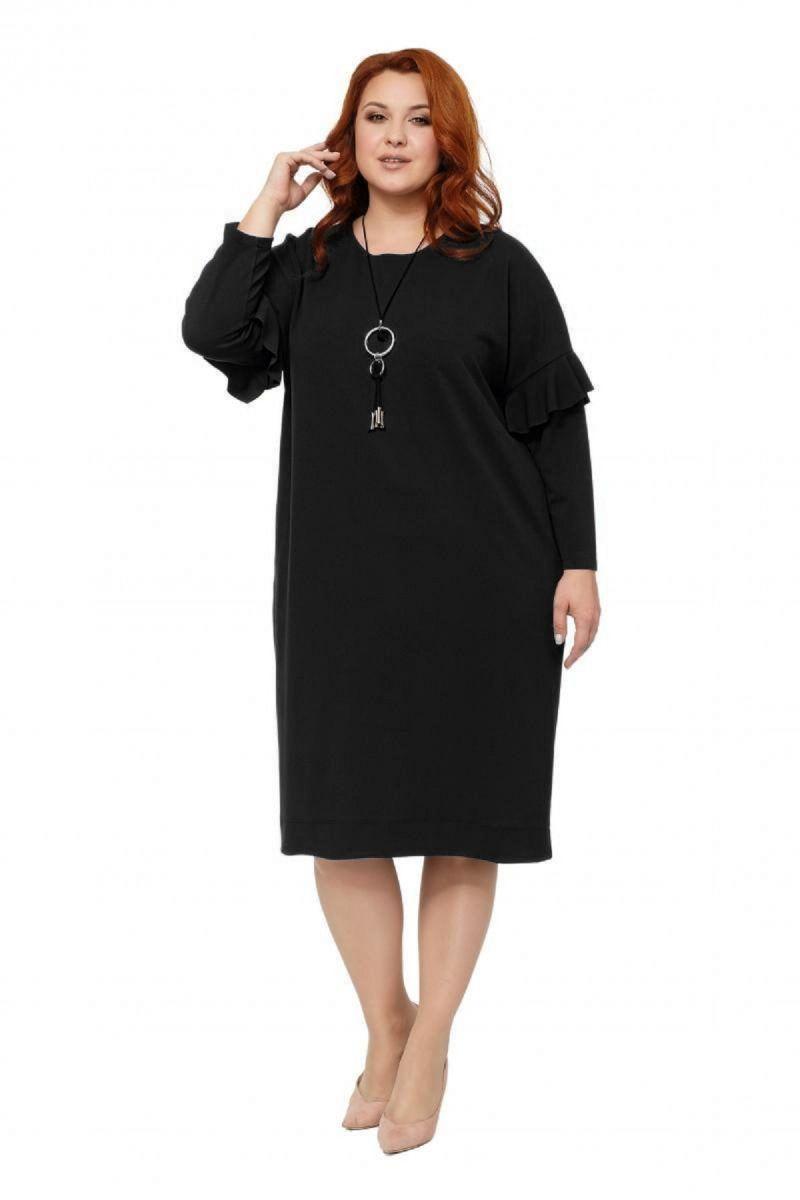 Платье большого размера цвет черный Доступно в цвете  000-233 - Victorya-Shop.com