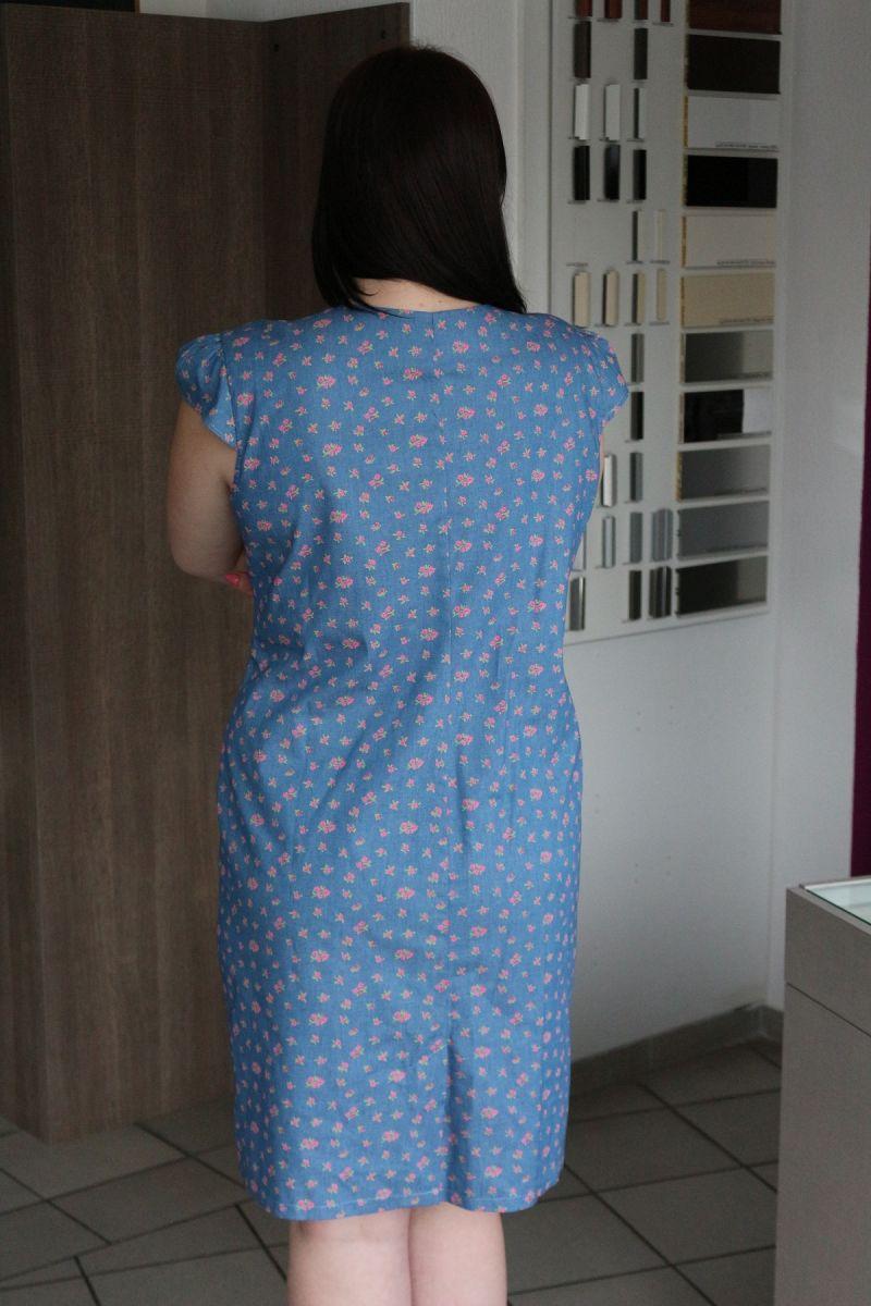 Платье большого размера из натуральной ткани 00-133503 - Victorya-Shop.com