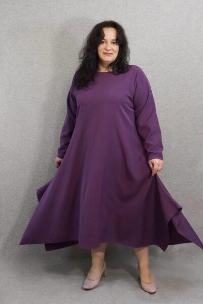 Платье большого размера нарядное Шарм 000-639 - Victorya-Shop.com