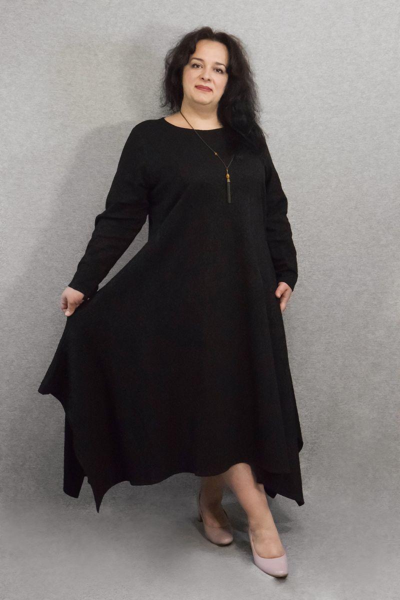 Платье большого размера нарядное Шарм 000-640 - Victorya-Shop.com
