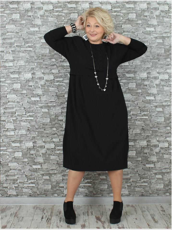 Платье большого размера Рокки  000-380 - Victorya-Shop.com