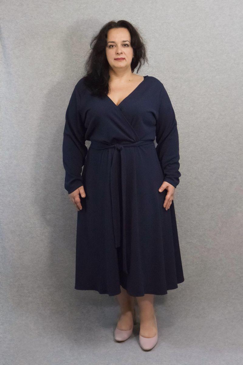 Платье большого размера Свен доступно в цвете 000-641 - Victorya-Shop.com