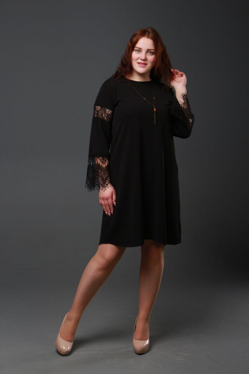 Платье большого размера Вамп Возможна коррекция длины 000-328 - Victorya-Shop.com