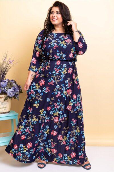 Платье длинны макси из струящегося софта замена цвета 000-387 - Victorya-Shop.com