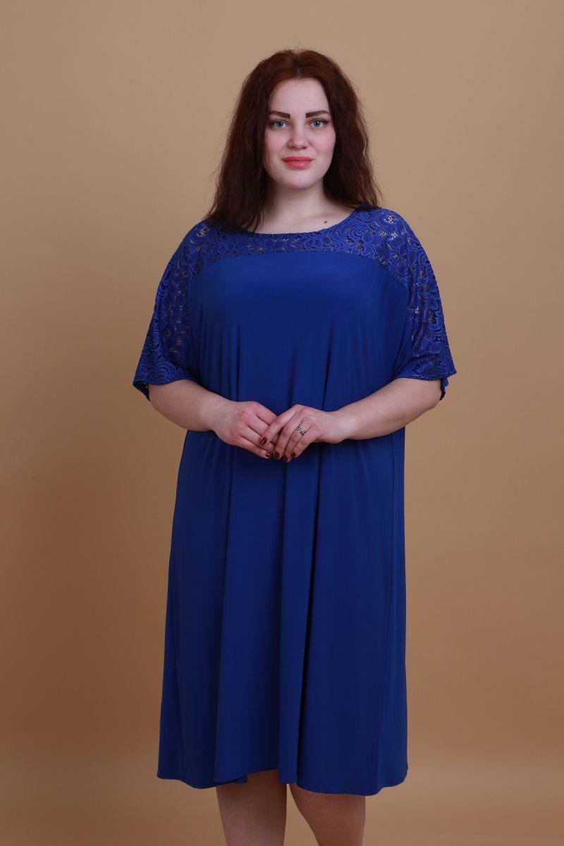 Платье для полных электрик доступно в цвете  000-443 - Victorya-Shop.com