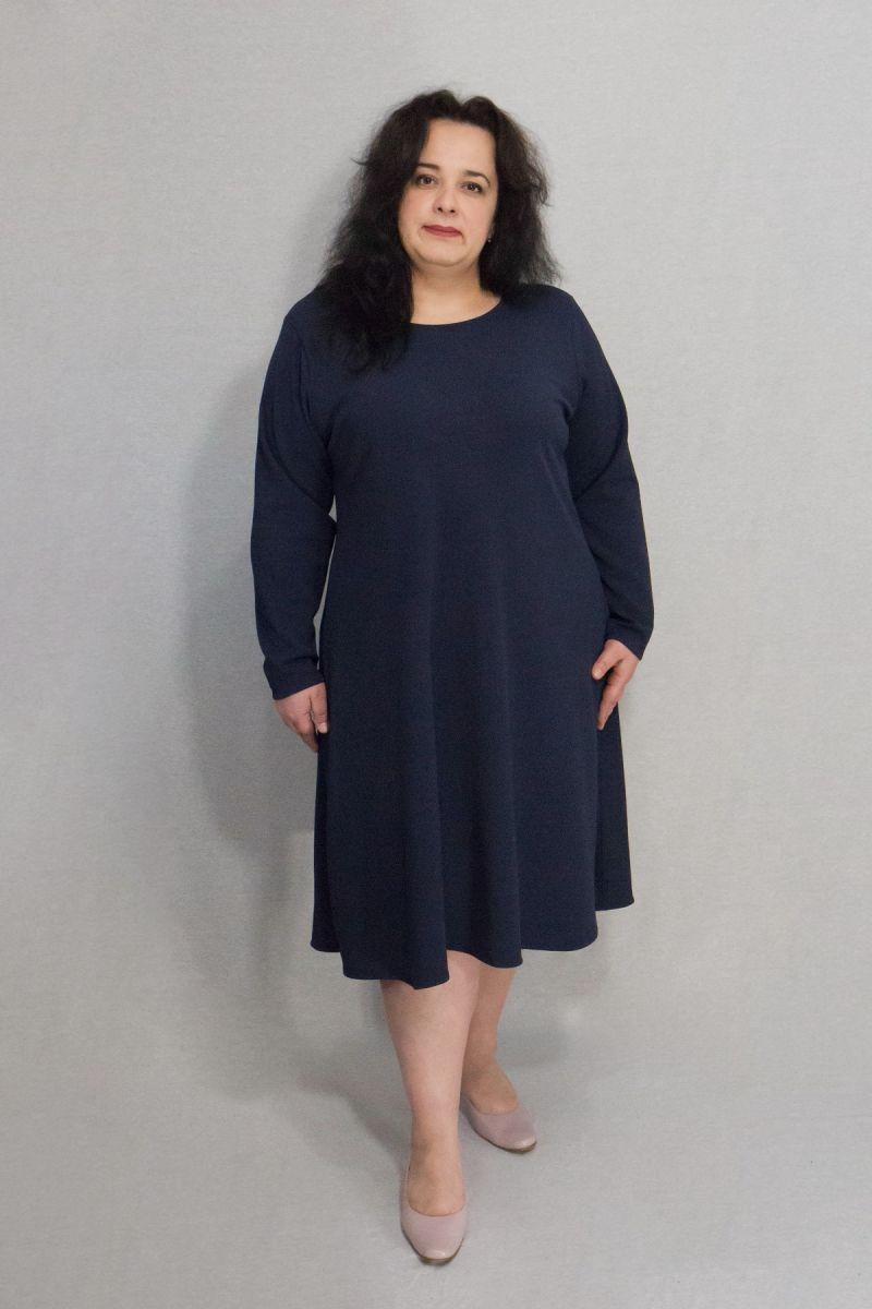 Платье для полных трапеция модель доступна в цвете 000-659 - Victorya-Shop.com