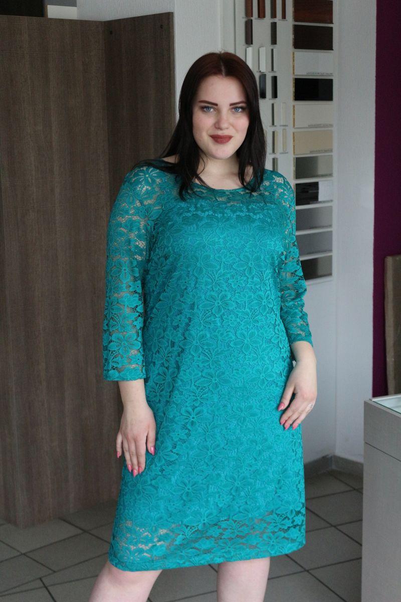 Платье из гипюра большого размера 00-133510 - Victorya-Shop.com