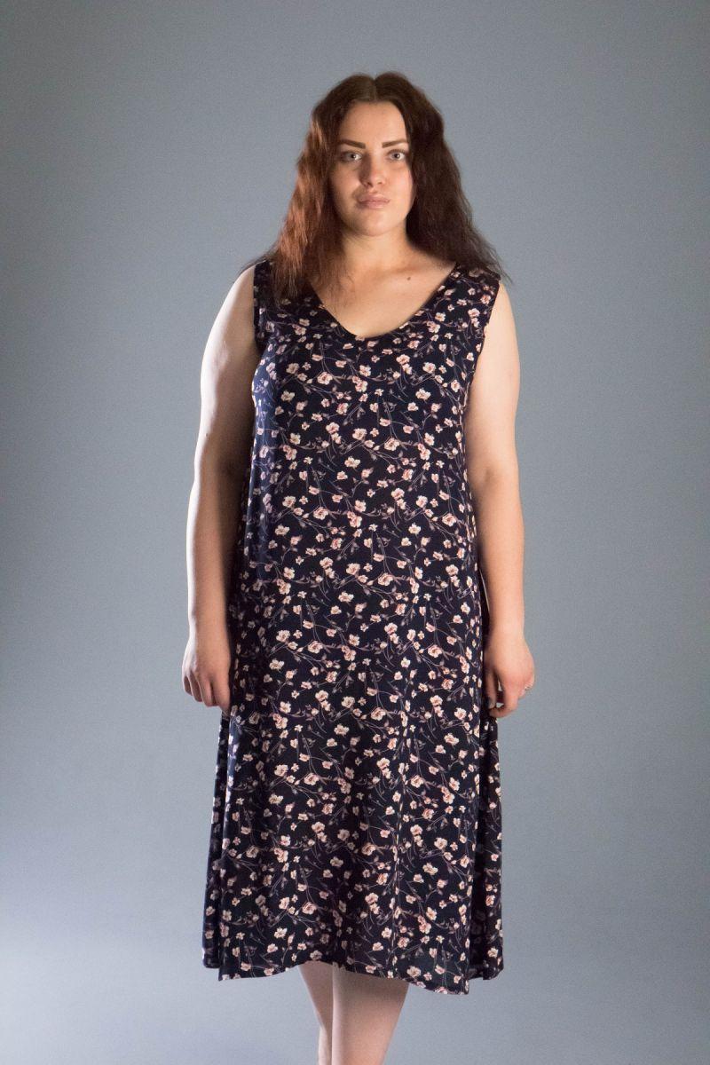 Платье из натуральной ткани большого размера 000-547 - Victorya-Shop.com