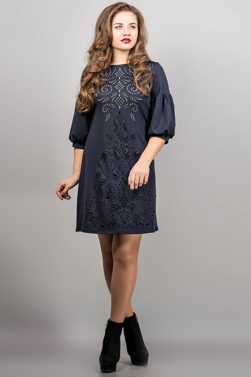 ПЛАТЬЕ КАРМЕН (СИНИЙ) - Victorya-Shop.com