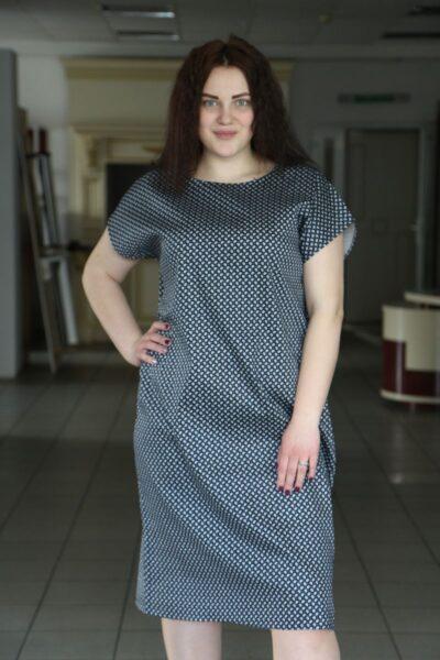 Платье летнее большого размера из каттона Миранда 000-496 - Victorya-Shop.com