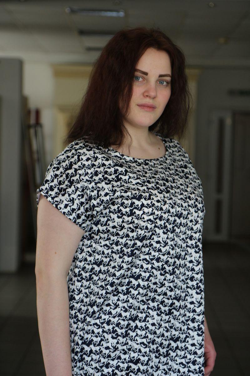 Платье летнее большого размера из каттона Миранда 000-498 - Victorya-Shop.com