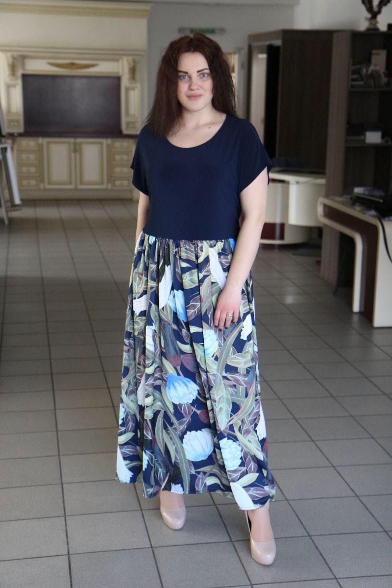 Платье летнее большого размера Восторг 000-501 - Victorya-Shop.com