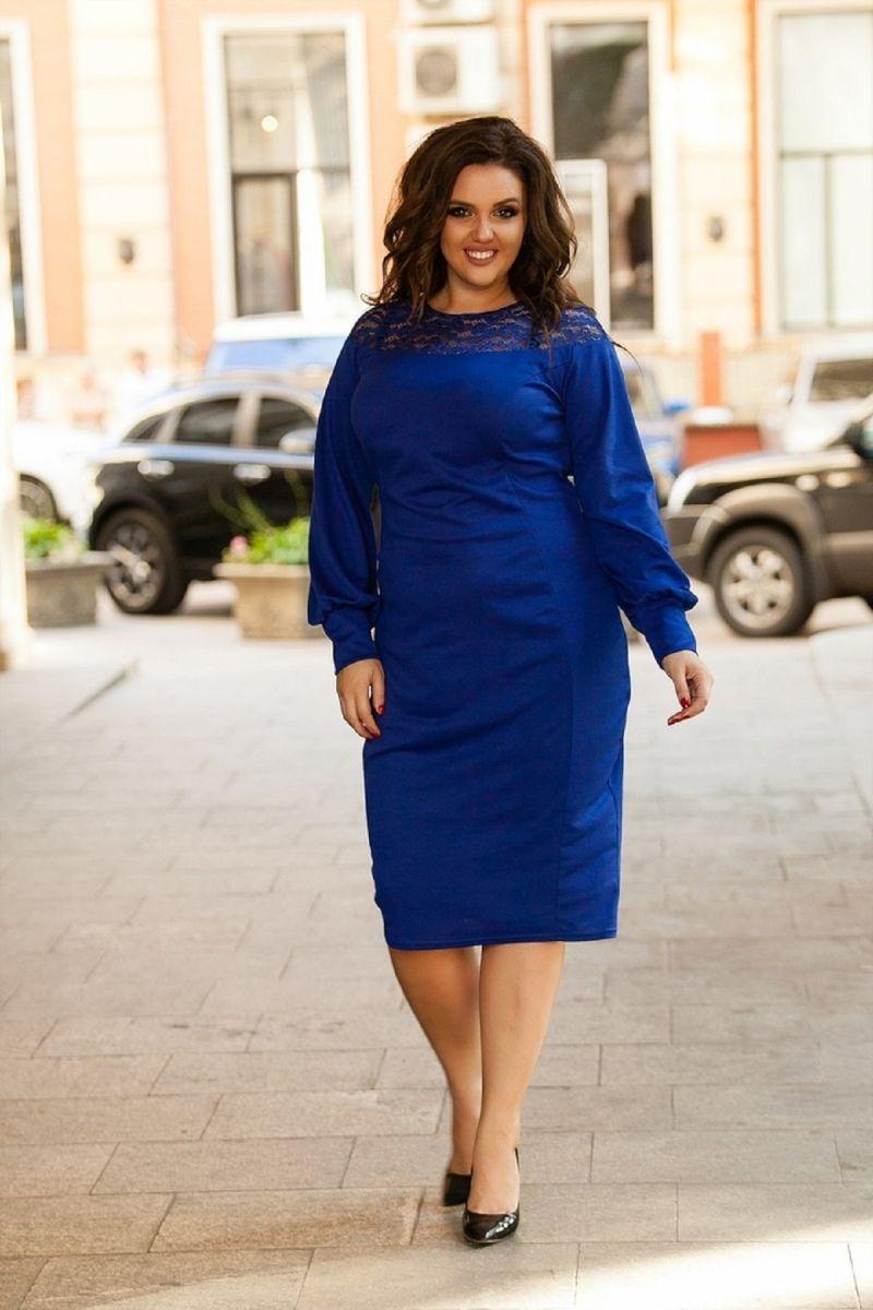 Платье Миледи электрик 00-13161 - Victorya-Shop.com