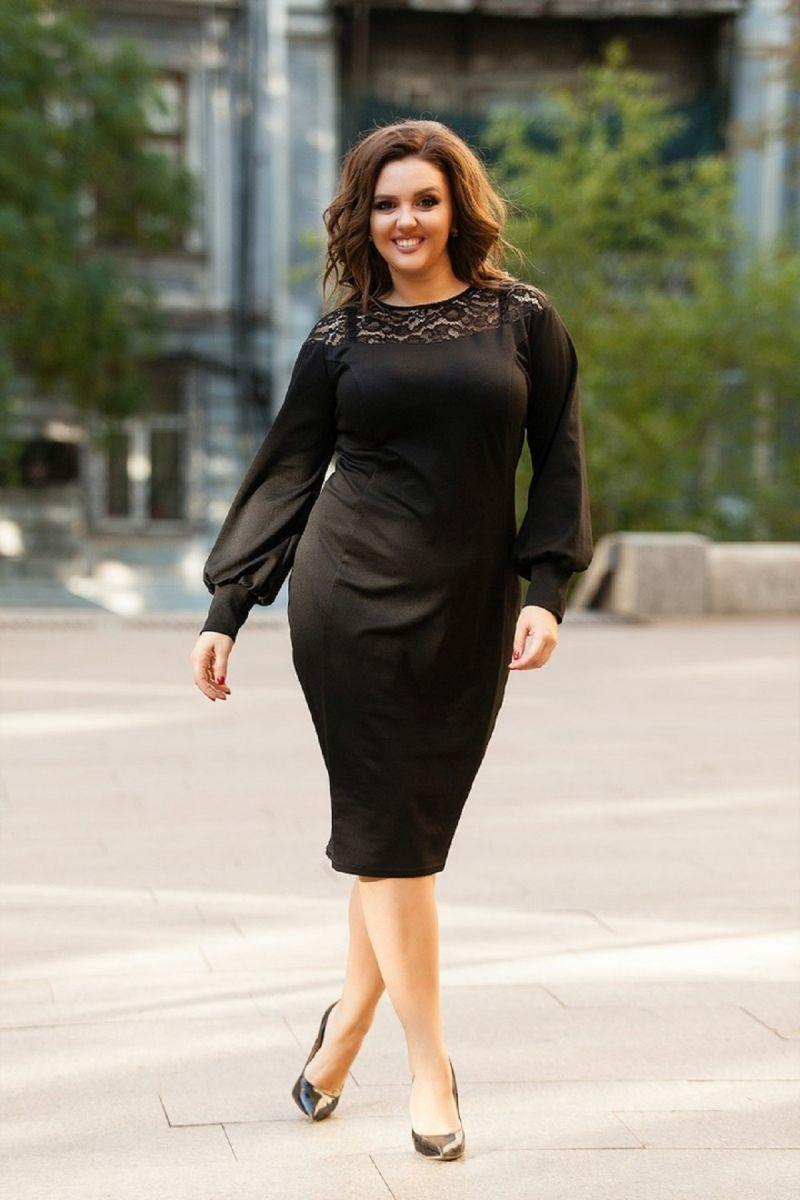 Платье Миледи черное 00-13162 - Victorya-Shop.com