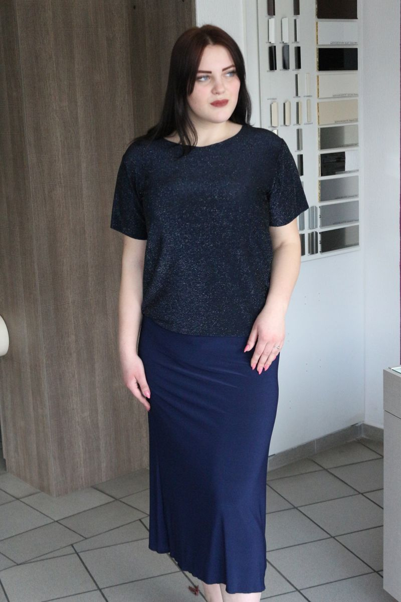 Платье обманка люрикс 00-13312 - Victorya-Shop.com