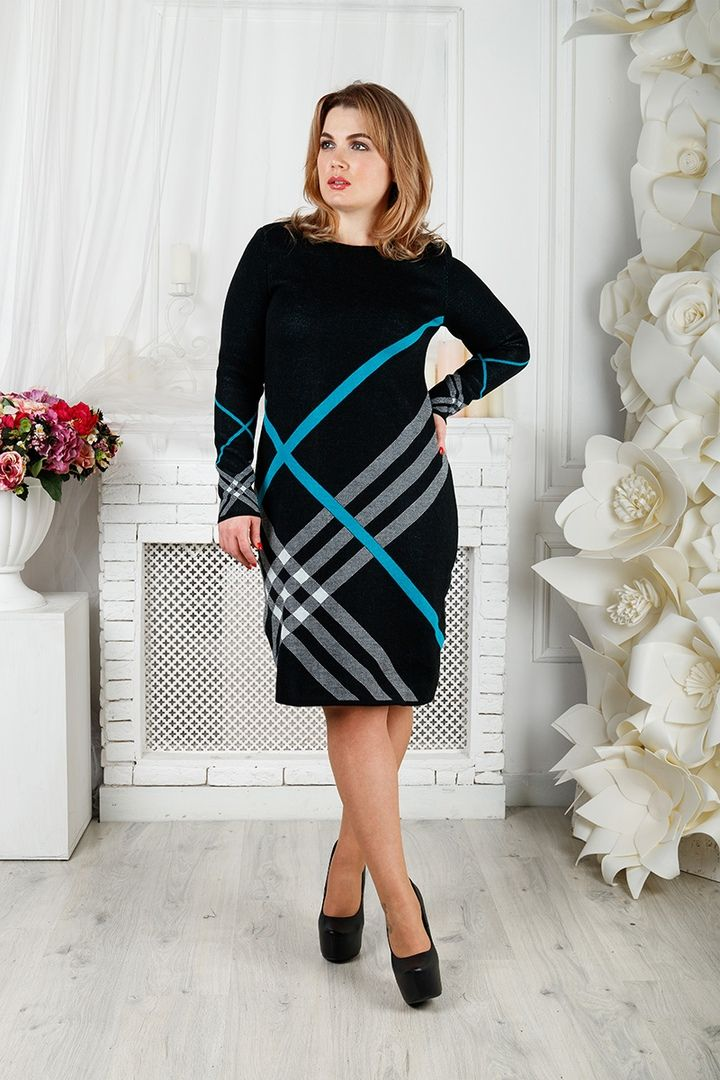 Платье Призма большого размера 00-133393 - Victorya-Shop.com