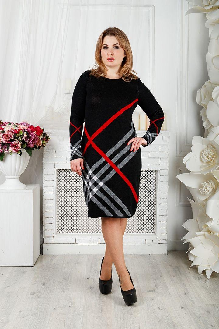 Платье Призма большого размера 00-133394 - Victorya-Shop.com