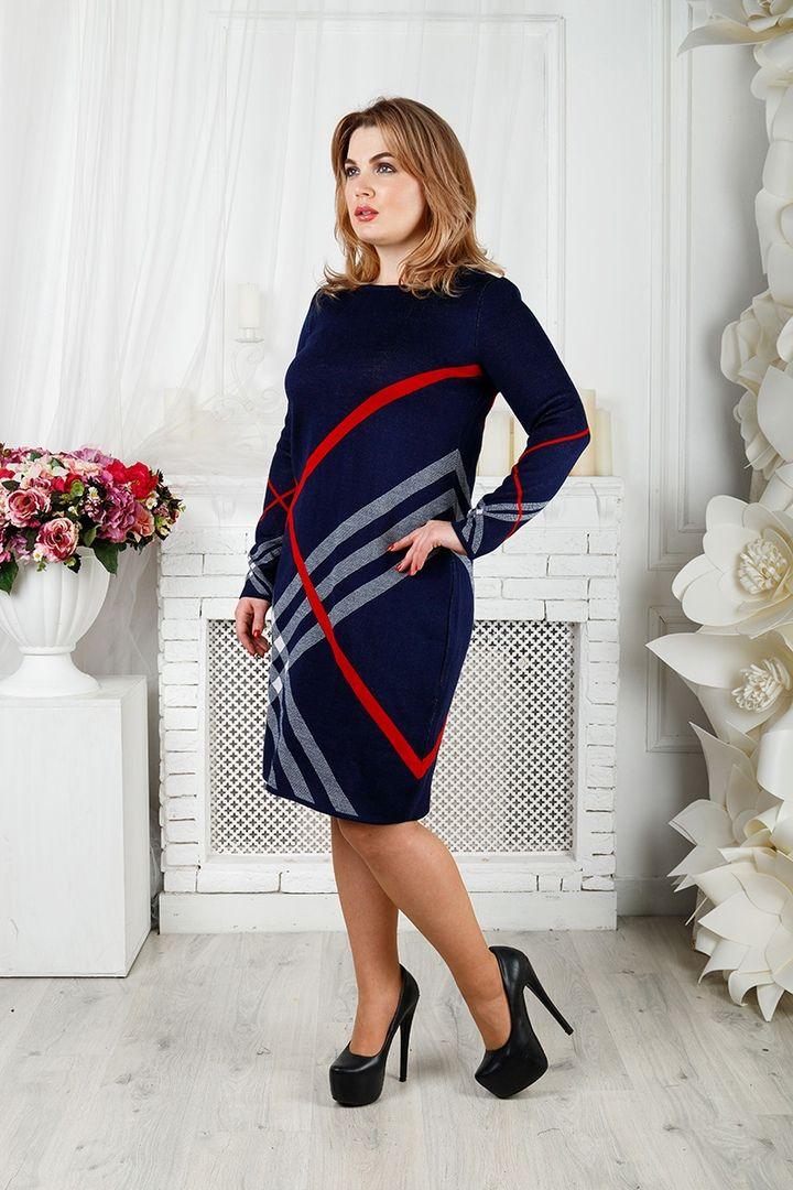 Платье Призма большого размера 00-133395 - Victorya-Shop.com