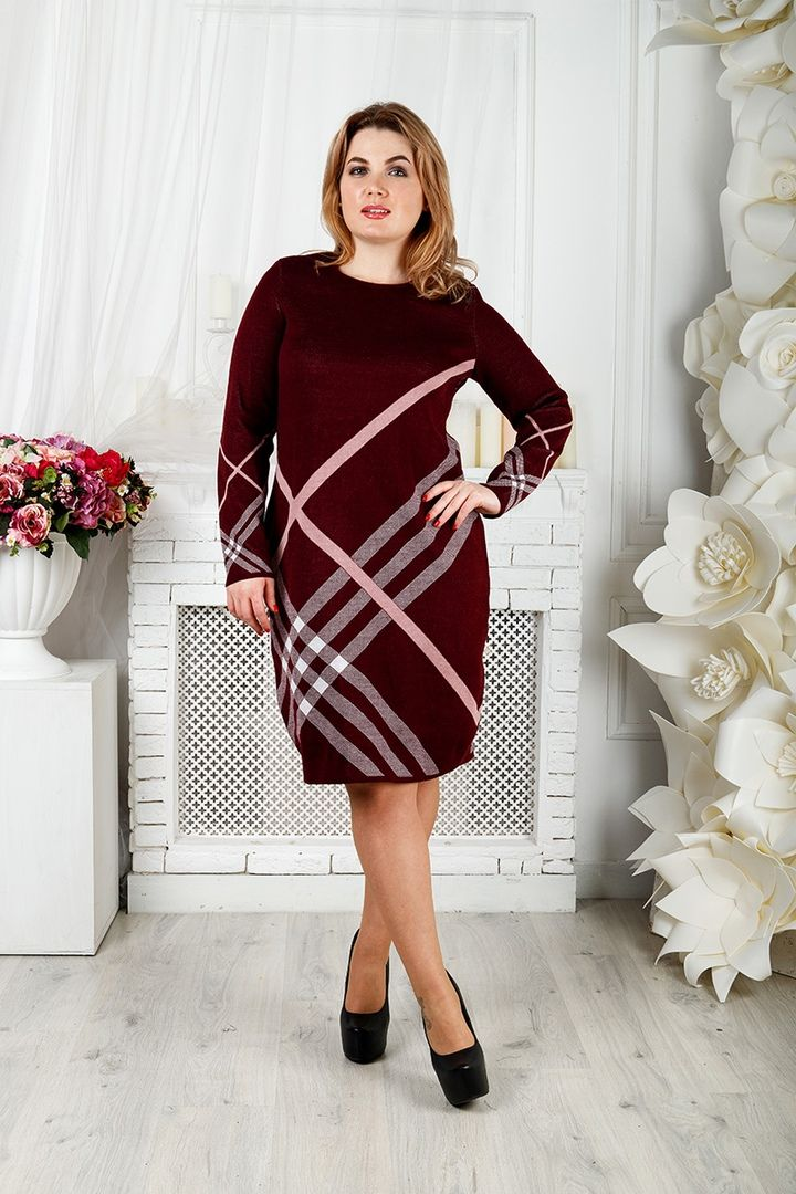Платье Призма большого размера 00-133396 - Victorya-Shop.com