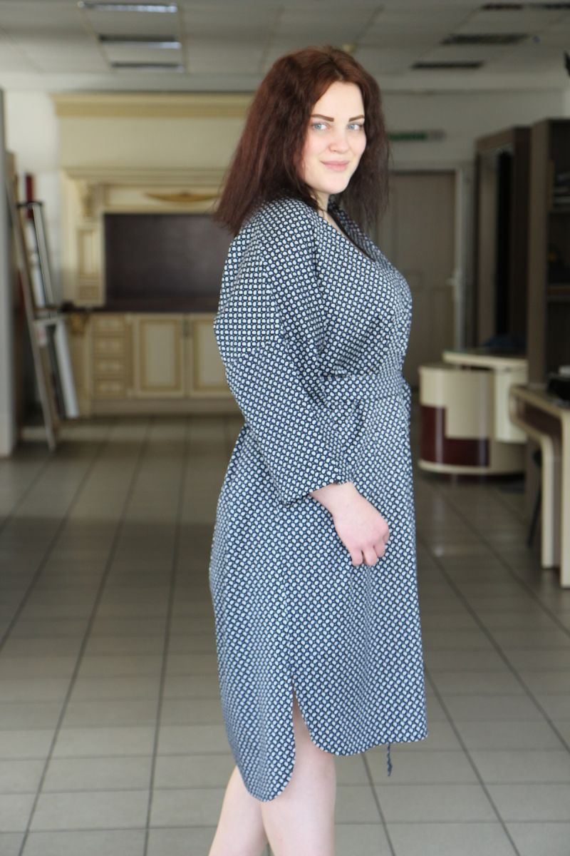 Платье рубашка большого размера 00-133677 - Victorya-Shop.com