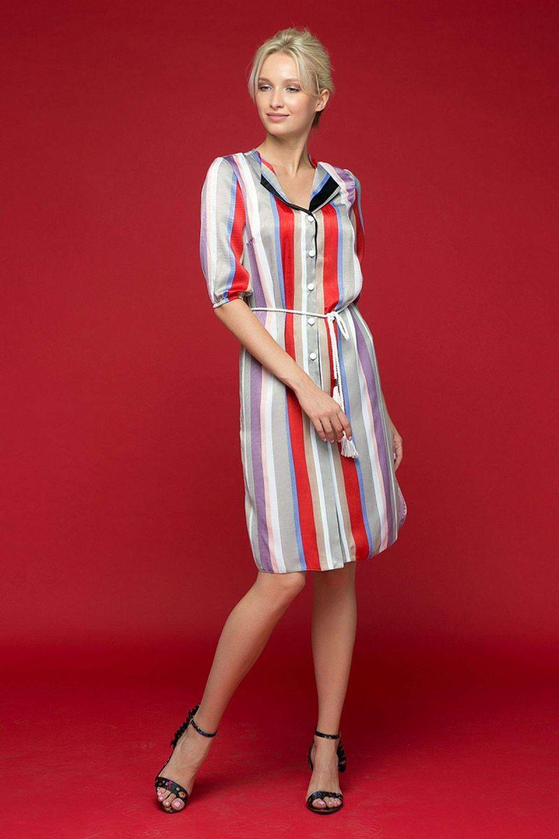 """Платье-рубашка с воротником """"апаш"""" SET фиолетовое 00-13398 - Victorya-Shop.com"""