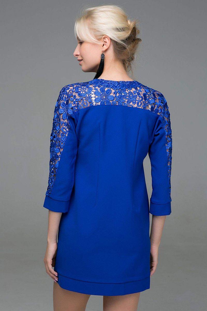 Платье с карманами BELL синее 00-13374 - Victorya-Shop.com