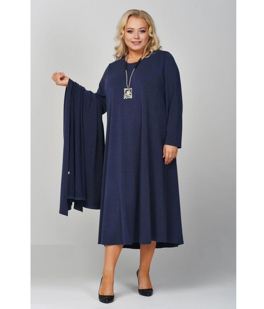 Платье с накидкой креп-дайвинг доступны цвета  000-95 - Victorya-Shop.com
