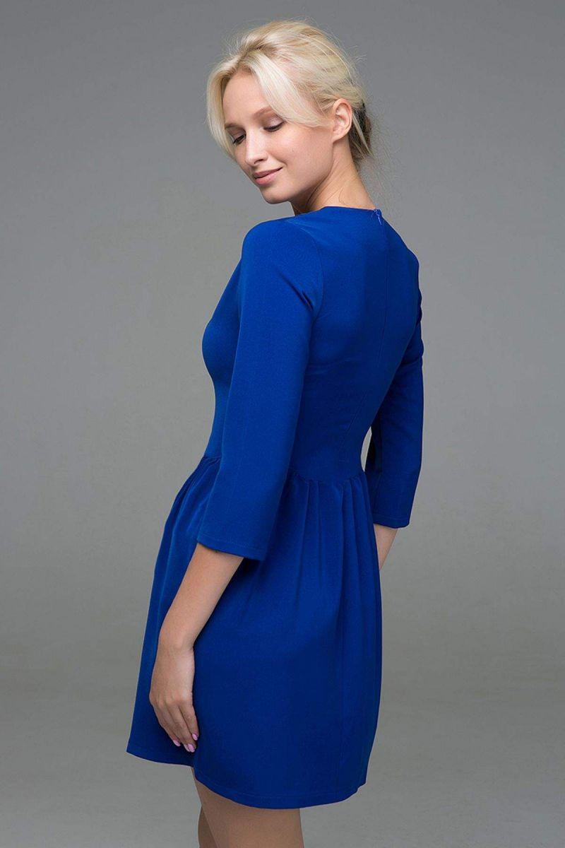 Платье с пышной юбкой LOFT василек 00-13377 - Victorya-Shop.com
