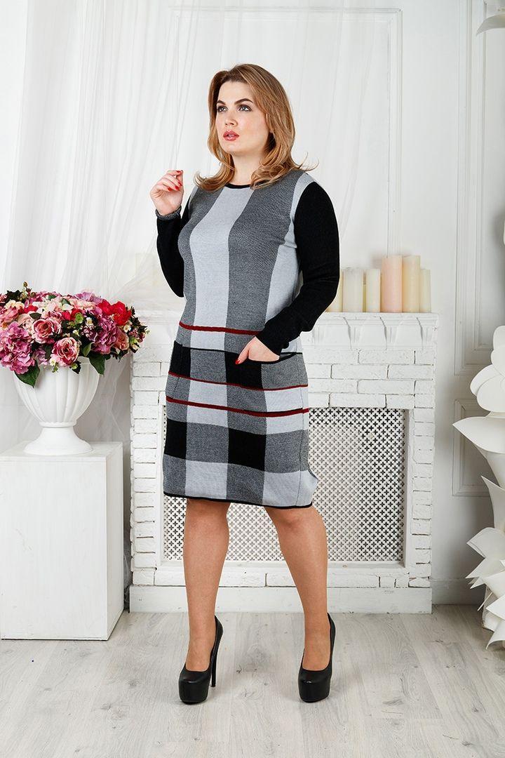 Платье Стрела большого размера 00-133401 - Victorya-Shop.com