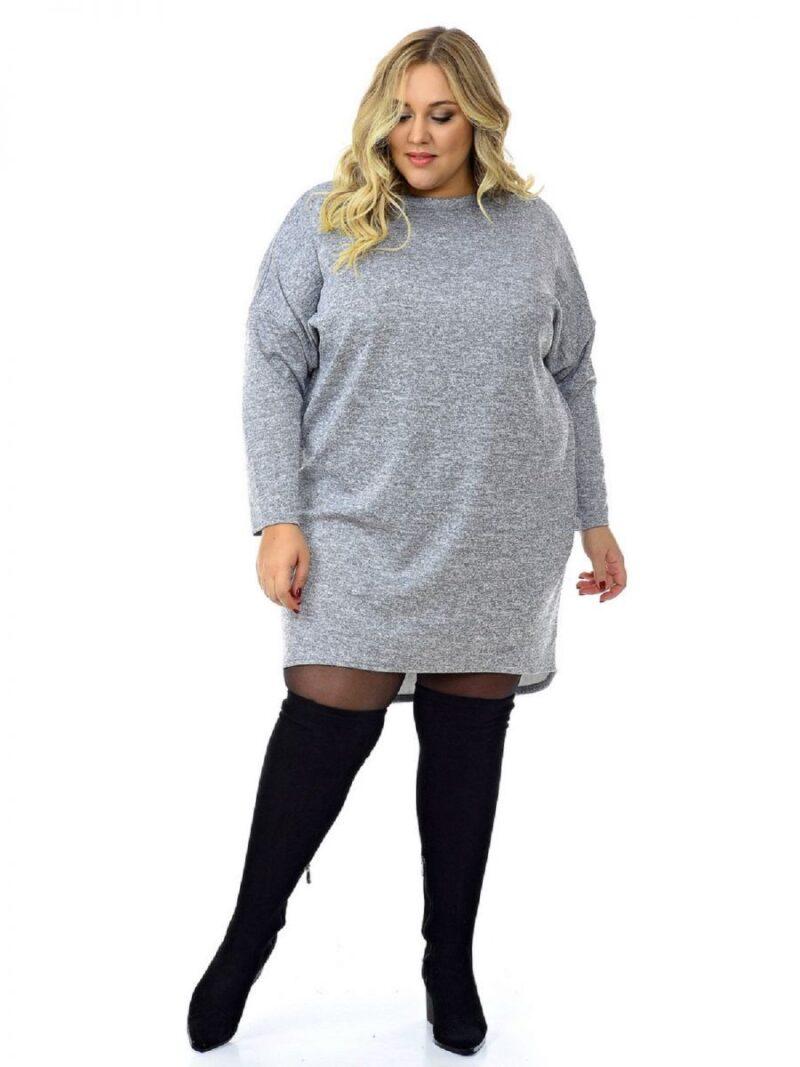 Платье -туника большого размера 000-672 - Victorya-Shop.com