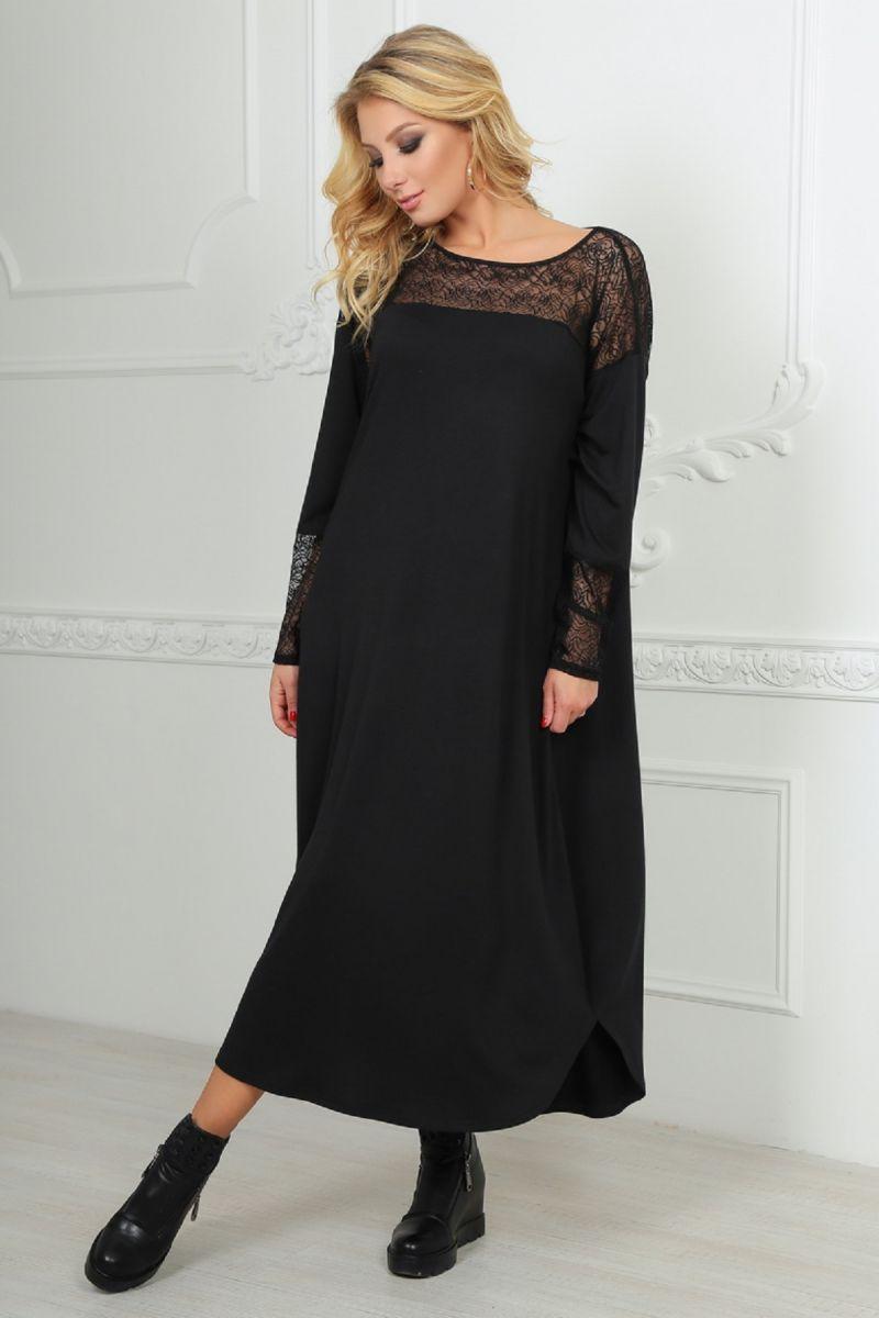 Платье Вэст черный 00-897 - Victorya-Shop.com
