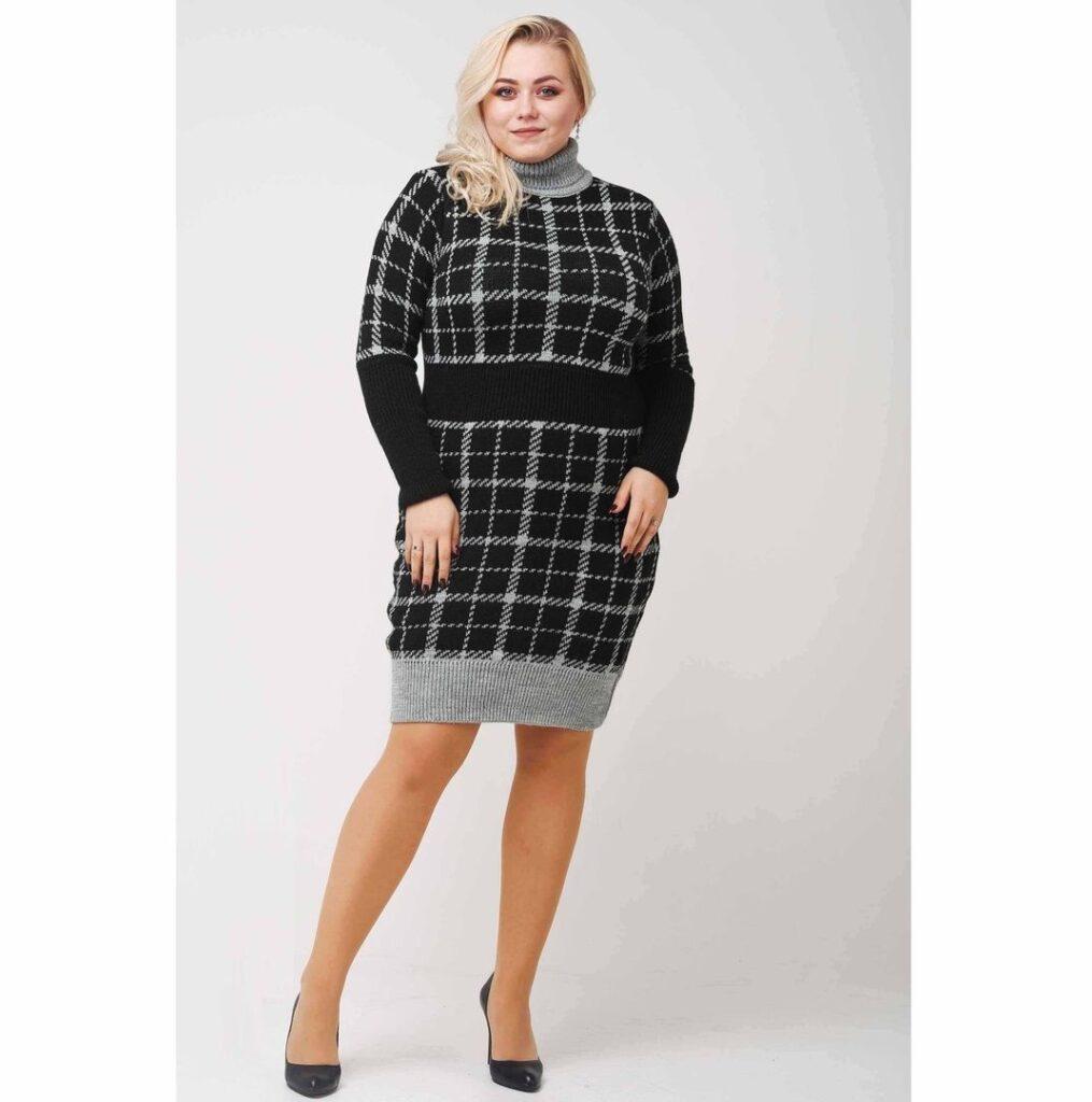 Платье женское ВЯЗАНОЕ 000-318 - Victorya-Shop.com