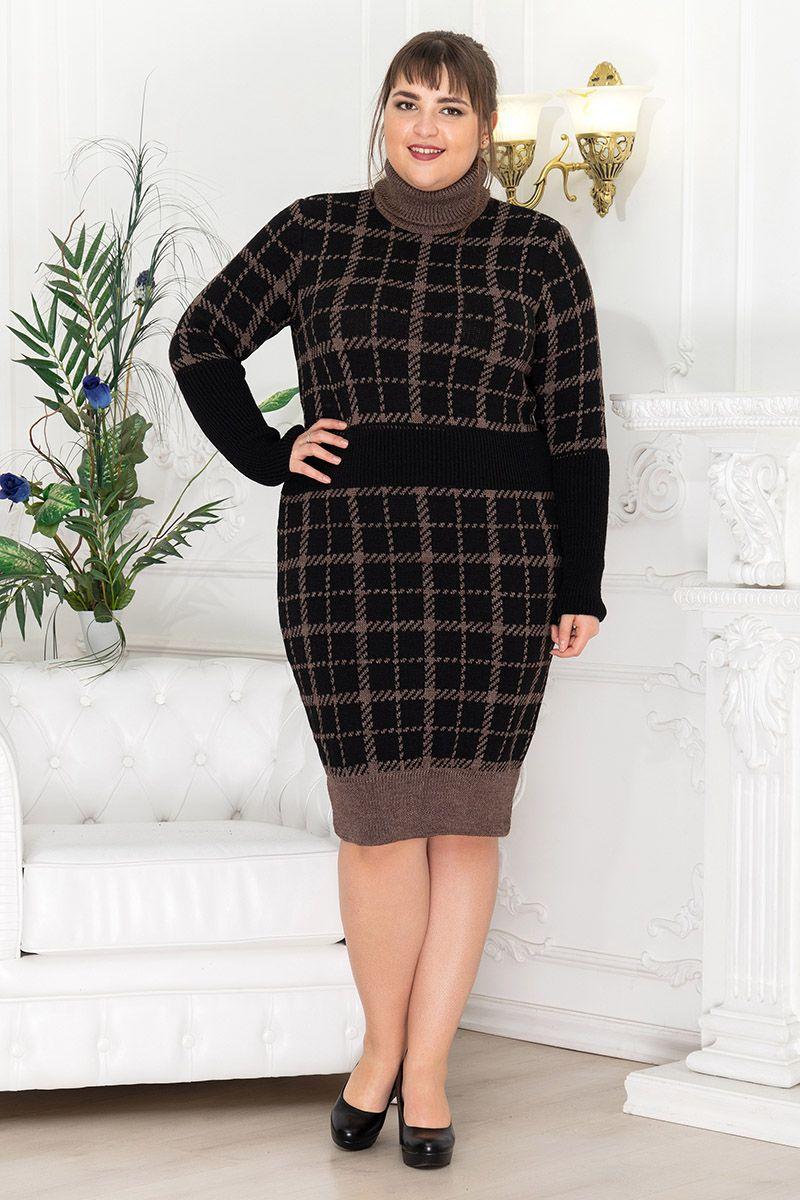 Платье женское ВЯЗАНОЕ 000-319 - Victorya-Shop.com