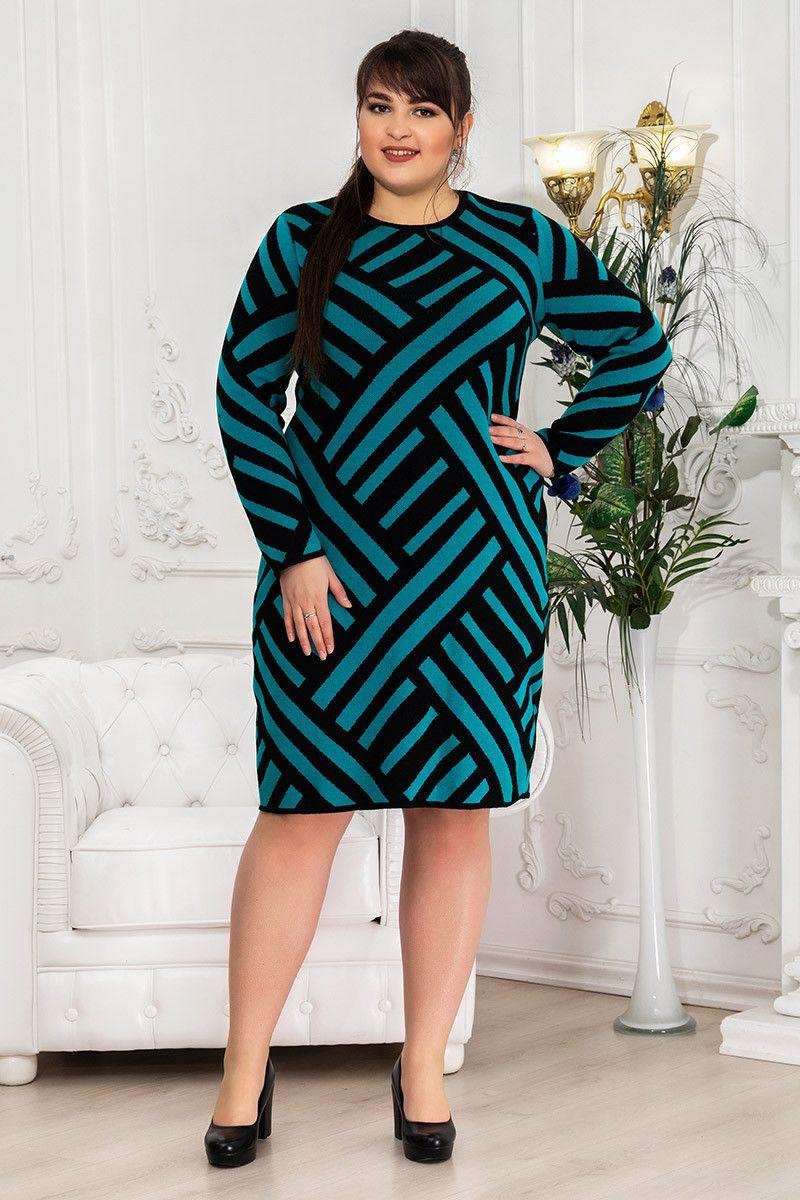 Платье зимнее вязка Пирамида 000-677 - Victorya-Shop.com