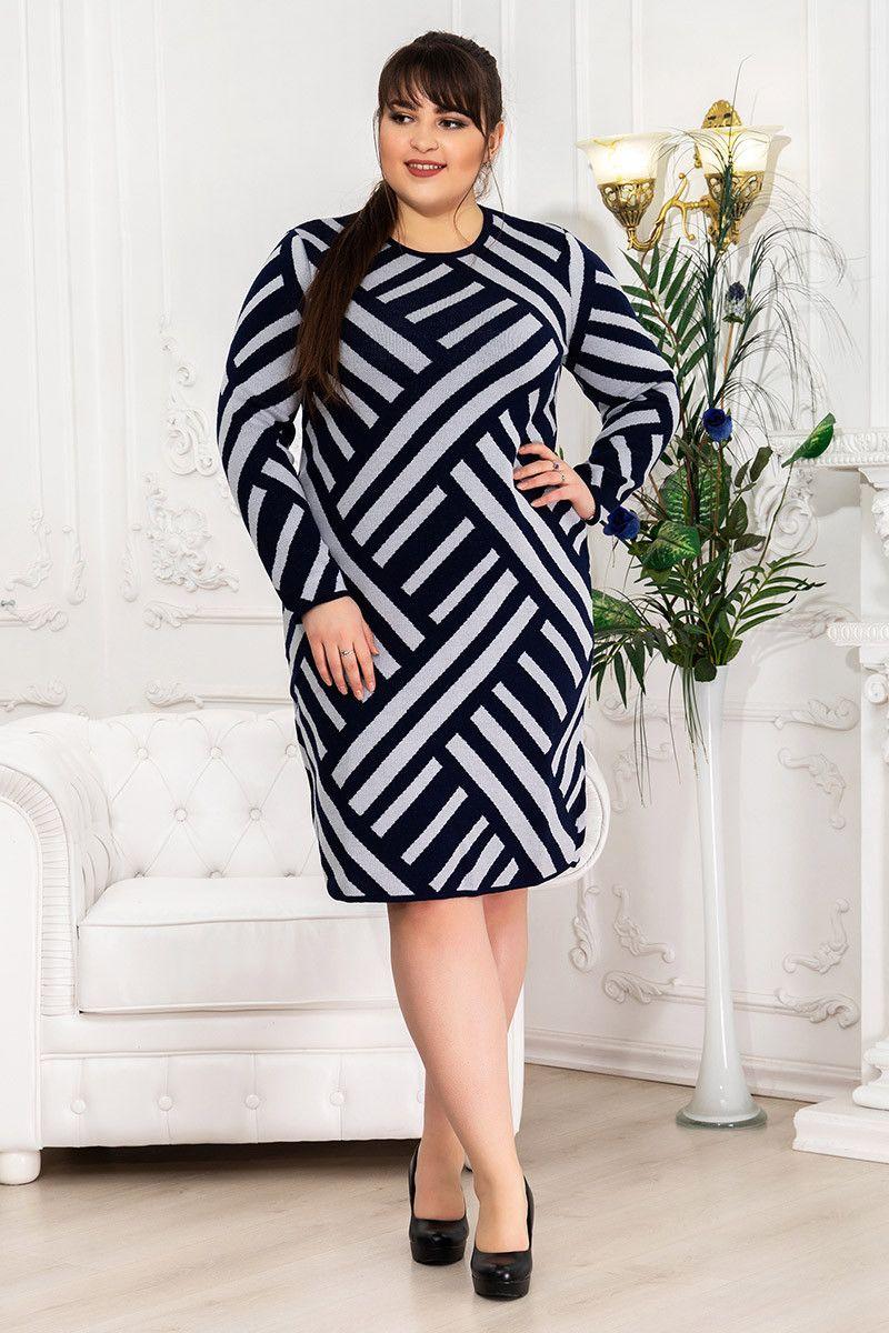 Платье зимнее вязка Пирамида 000-678 - Victorya-Shop.com