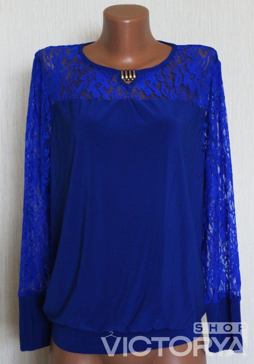 РАСПРОДАЖА Блуза большого размера Гипюр - Victorya-Shop.com