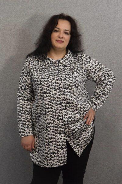 Рубашка туника большого размера 000-642 - Victorya-Shop.com