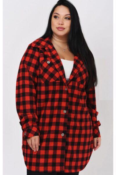 Рубашка женская большого размера 000-603 - Victorya-Shop.com