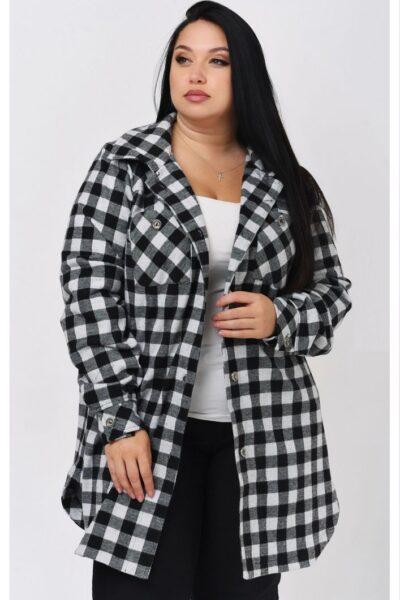 Рубашка женская большого размера 000-604 - Victorya-Shop.com