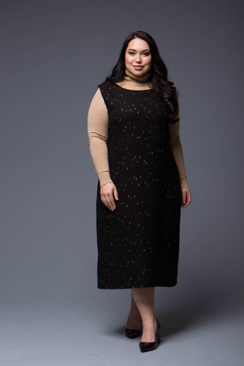 Сарафан женский большого размера из твида в стиле Шанель 000-701 - Victorya-Shop.com