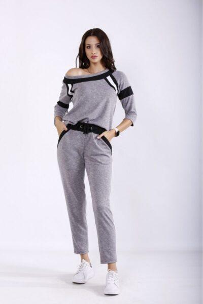 Серый спортивный костюм серый 00-133692 - Victorya-Shop.com