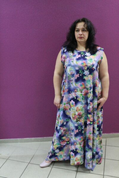 Шикарное платье большого размера Маргарита(модель  доступна в различных тонах)  00-133414 - Victorya-Shop.com