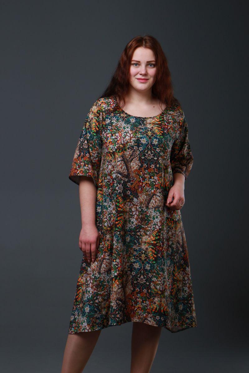 Шикарное платье большого размера Мавка 000-327 - Victorya-Shop.com