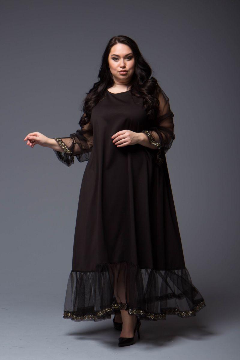 Шикарное платье для женщин пышных форм 000-698 - Victorya-Shop.com