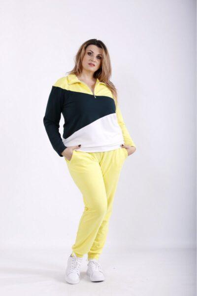 Спортивный костюм большого размера желтый  00-133691 - Victorya-Shop.com